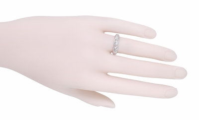 Art Deco Hamden Vintage Diamond Wedding Band in Platinum - Size 6  - Item R1077 - Image 1
