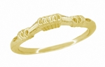 Art Deco Harvest Bands Wedding Ring in 14 Karat Yellow Gold