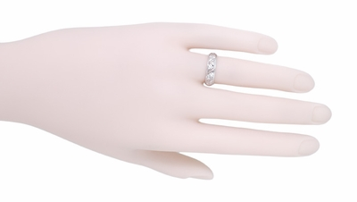 Art Deco Marbledale Antique Diamond Wedding Ring in Platinum - Size 5 - Item R1064 - Image 1