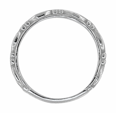Art Deco Scrolls Wedding Band in 14 Karat White Gold - Item R639 - Image 1