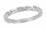 Art Deco Scrolls Wedding Band in Sterling Silver