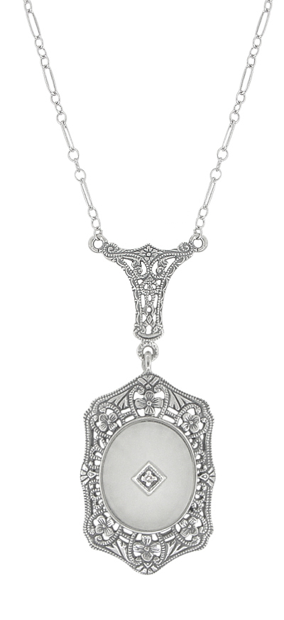 Filigree Art Deco Starburst Camphor Crystal Amp Diamond Drop