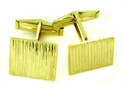 Bark Finish Estate Cufflinks in 14 Karat Gold