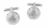 Basketball Cufflinks in Sterling Silver