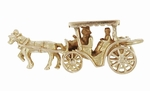 Bahamas Horse Drawn Carriage Movable Vintage Charm in 9 Karat Gold