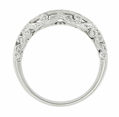 Borola 3/4 Carat Diamond Engagement Ring Setting and Wedding Ring in 18 Karat White Gold - Item R811 - Image 6