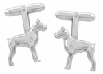Boxer Cufflinks in Sterling Silver