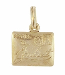 Romeo To Juliet Love Letter Charm in 10K Yellow Gold | 1950s Vintage Engraved Love Charm