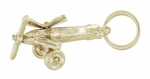 Movable Propellers Airplane Charm in 10K Yellow Gold | 1960s Vintage Plane Pendant