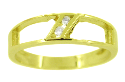 Channel Set Diamond Ring in 14 Karat Gold