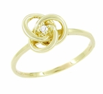 Diamond Love Knot Ring in 14 Karat Yellow Gold