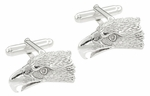 Eagle Head Cufflinks in Sterling Silver