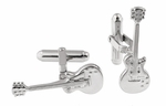 Electric Guitar Cufflinks in 925 Sterling Silver