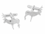 Elk Cufflinks in Sterling Silver
