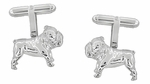 English Bulldog Cufflinks in Sterling Silver