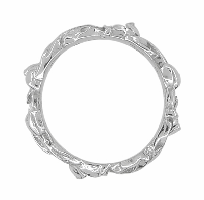 Filigree Lilies Eternity Floral Band in Sterling Silver - 6mm Wide - Item SSR684 - Image 1