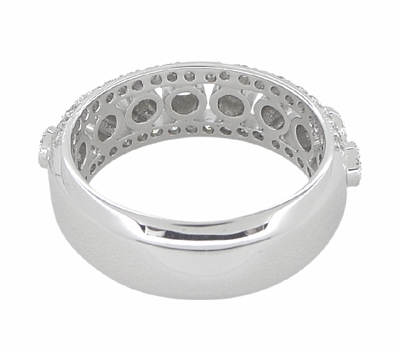 Galaxy of Love Diamond Anniversary / Wedding Band in 14 Karat White Gold - Item R820 - Image 1