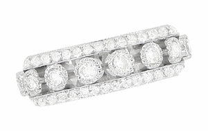 Galaxy of Love Diamond Anniversary / Wedding Band in 14 Karat White Gold - Item R820 - Image 3