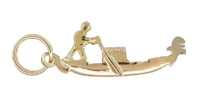 Gondola Charm in 14 Karat Gold