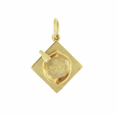 Graduate's Cap Charm in 14 Karat Yellow Gold - Item C650 - Image 1