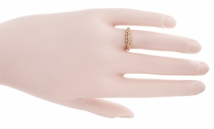 Art Deco Filigree Wedding Ring in 14 Karat Rose Gold - Click to enlarge