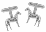 Horse Cufflinks in Sterling Silver