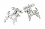 Hound Dog Cufflinks in Sterling Silver