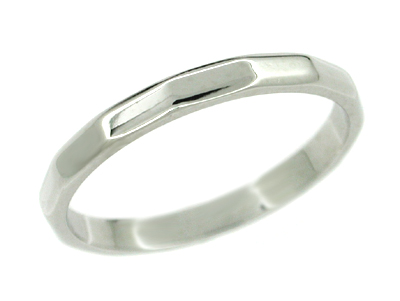 Kaleidoscope Vintage Wedding Band in 14 Karat White Gold