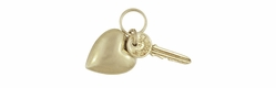 Key to Your Heart Moveable Charm in 14K Gold | Love and Success Movable Vintage Heart Charm