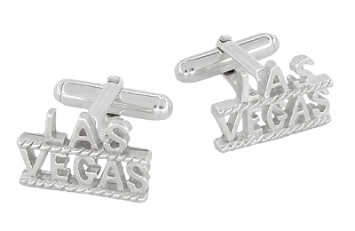 Las Vegas Cufflinks in Sterling Silver