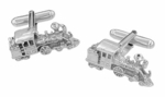 Locomotive Train Cufflinks in Sterling Silver
