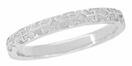 Love Anchor and Cross Engraved Pattern Wedding Band in 14 Karat White Gold