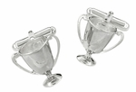 Loving Cup Trophy Cufflinks in Sterling Silver - Trophy Award Cuff Links