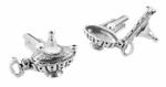 Magic Genie Lamp Movable Cufflinks in Sterling Silver