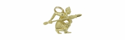 Maori Warrior Charm in 18 Karat Gold