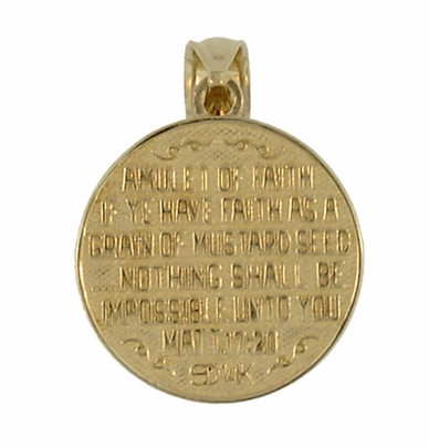Matthew 17:20 Moveable Mustard Seed Charm in 14 Karat Yellow Gold | Bible Verse Pendant - Item C579 - Image 1