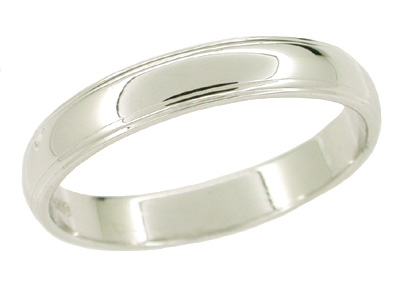 Men's 3.6 mm Wedding Band in Platinum