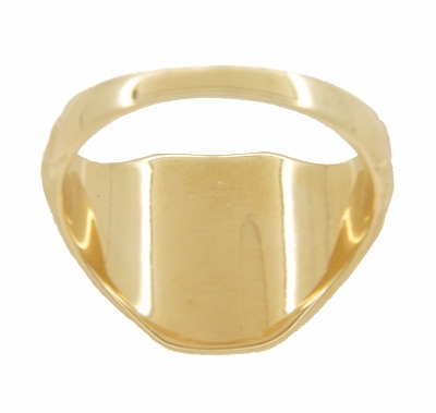 Mens Victorian Rectangular Signet Ring in 14 Karat Yellow Gold - Item MR119 - Image 2