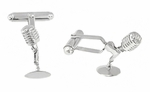 Microphone Cufflinks in Sterling Silver