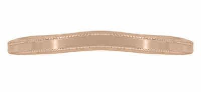Millgrain Edge Curved Wedding Band in 14 Karat Rose ( Pink ) Gold - Item WR158RND - Image 3