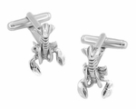 Movable Lobster Cufflinks in Sterling Silver