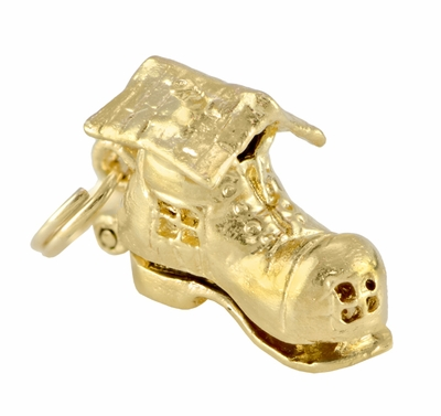 Movable Old Woman in A Shoe Charm in 14 Karat Gold - Item C440 - Image 1