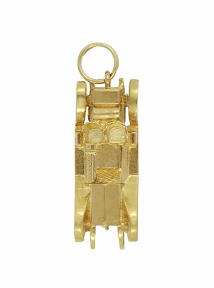 Moveable Antique Roadster Car Charm in 14K Yellow Gold | Vintage Car Pendant - Item C619 - Image 1