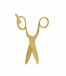 Moveable Vintage Scissors Pendant Charm in 18K Yellow Gold