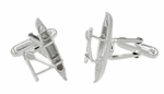 Outrigger Canoe Cufflinks in Sterling Silver