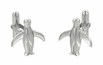 Penguin Cufflinks in Sterling Silver