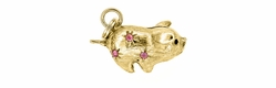 Piggy Bank Charm in 14 Karat Gold