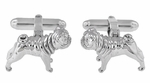 Pug Cufflinks in Sterling Silver