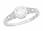 Mayfair Art Deco Filigree Platinum and Diamond Engagement Ring