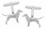Retriever Cufflinks in Sterling Silver